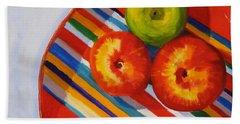 Apple Stripe Hand Towel