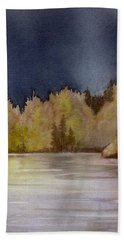 Hand Towel featuring the painting Approaching Rain by Lynn Quinn