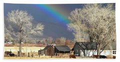 Approaching Storm At Cattle Ranch Hand Towel