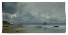 Approaching Storm - Morro Rock Bath Towel