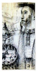 Hand Towel featuring the painting Arapaho Cheyenne by Bernadette Krupa