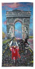 Arc De Triomphe Hand Towel by Alana Meyers