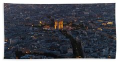 Arc De Triomphe From Above Hand Towel by Maj Seda