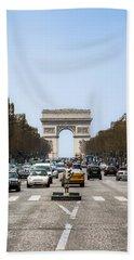 Arch Of Triumph In Paris Bath Towel