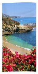 Arch Rock And Beach Laguna Bath Towel