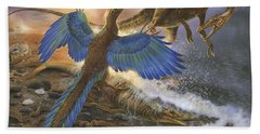 Archaeopteryx Defending Its Prey Hand Towel