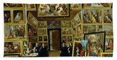 Archduke Leopold Wilhelm 1614-61 In His Picture Gallery, C.1647 Oil On Copper Hand Towel
