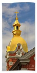 Architecture - Golden Cross Bath Towel