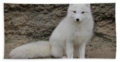 Arctic Fox Hand Towel by Athena Mckinzie