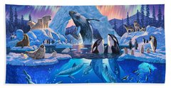 Arctic Harmony Hand Towel by Chris Heitt