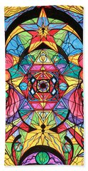 Arcturian Ascension Grid Bath Towel