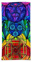 Arcturian Conjunction Grid Hand Towel