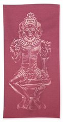 Hand Towel featuring the drawing Ardhanarishvara II by Michele Myers