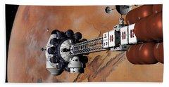 Ares1 Captured Over Valles Marineris Bath Towel by David Robinson