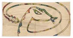 Arizona Diamondbacks Logo Vintage Hand Towel by Florian Rodarte