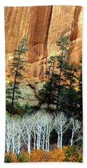 Arizona's Betatkin Aspens Hand Towel by Ed  Riche