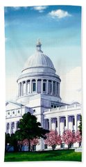 Arkansas Capitol Blossoms Bath Towel