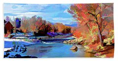 Arkansas River In Salida Co Bath Towel