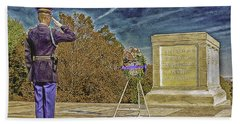 Arlington Cemetery Tomb Of The Unknowns Hand Towel by Bob and Nadine Johnston