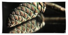 Armored Pine Cone Hand Towel