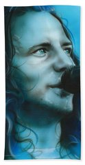 Eddie Vedder - ' Arms Raised In A V ' Hand Towel by Christian Chapman Art
