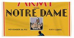 Army Vs Notre Dame 1932 Football Program Hand Towel