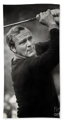 Arnold Palmer Pro-am Golf Photo Pebble Beach Monterey Calif. Circa 1960 Bath Towel