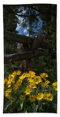 Hand Towel featuring the photograph Arrowleaf Balsam Root by Frank Madia