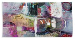 Art And Music Bath Towel