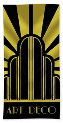 Art Deco Poster - Title Bath Towel