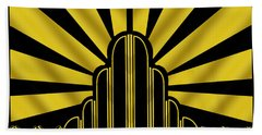 Art Deco Poster - Two Bath Towel