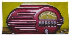 Art Deco Radio Bath Towel