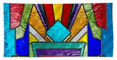 Art Deco - Stained Glass 6 Hand Towel