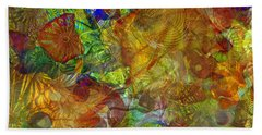 Art Glass Overlay Hand Towel