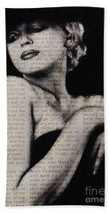 Art In The News 13-marilyn Bath Towel