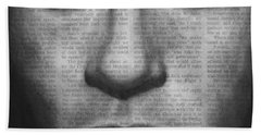 Art In The News 32- Brad Pitt Hand Towel