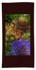 Artichoke And Blossom  Hand Towel by Michael Hoard