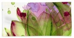 Artichoke Flower Bath Towel