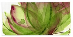 Artichoke Flower Bath Towel by Dawn Derman