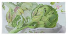 Artichokes Hand Towel by Lizzie Riches