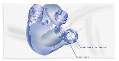 Artificial Heart Hand Towel by James Christopher Hill