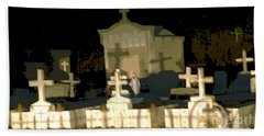 Hand Towel featuring the photograph Louisiana Midnight Cemetery Lacombe by Luana K Perez
