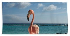Aruba Hairy Eyeball Bath Towel by HEVi FineArt