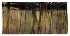 As Through A Leafless Landscape Flows A River Hand Towel