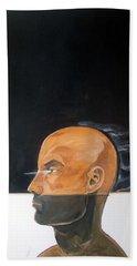 Hand Towel featuring the painting As Vapor Gutural by Lazaro Hurtado