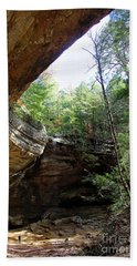 Ash Cave Of The Hocking Hills Hand Towel