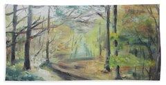 Ashridge Woods 2 Bath Towel by Martin Howard