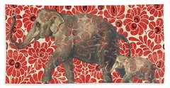 Asian Elephant-jp2185 Hand Towel by Jean Plout