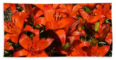 Bath Towel featuring the photograph Asiatic Lily by Sue Smith