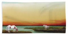 Assateague Island Sunset Hand Towel